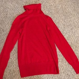 Jcrew red turtleneck sweater NEVER worn